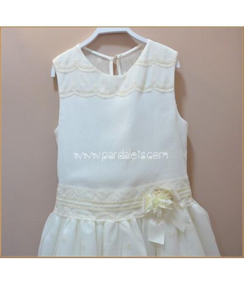 Camisa rayas celestes y blancas de cuello volante