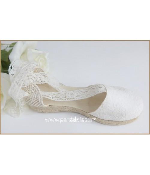 Vestido blanco roto y tostado ceremonia y arras
