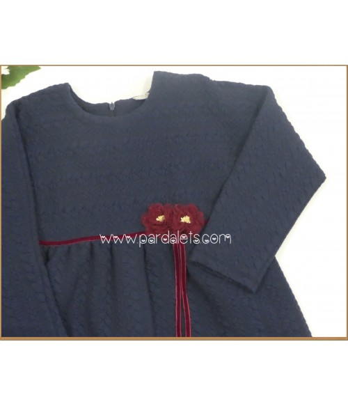 Jubón polaina de lana blanco y capota