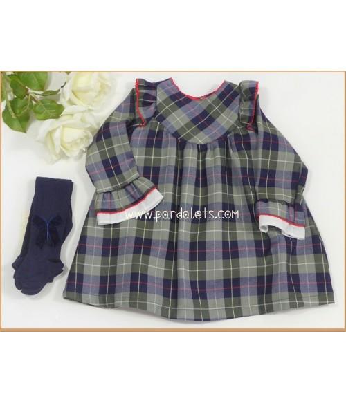 Jersey de lana rojo conejito y bombacho