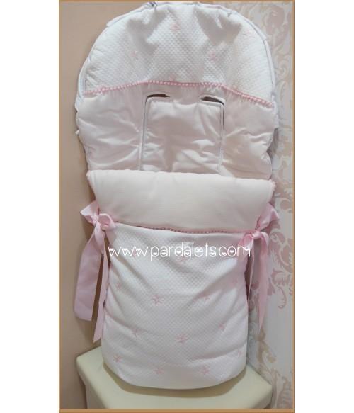 Jubon lana rosa y blanco Paz Rodriguez