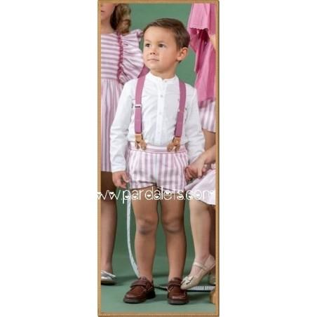 Vestido bebe estrellas cuello volante puntilla Ancar