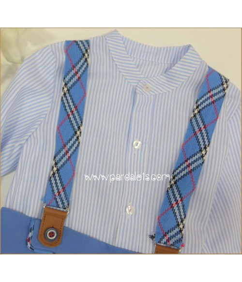 Conjunto camisa a cuadros short tirantes Laredo
