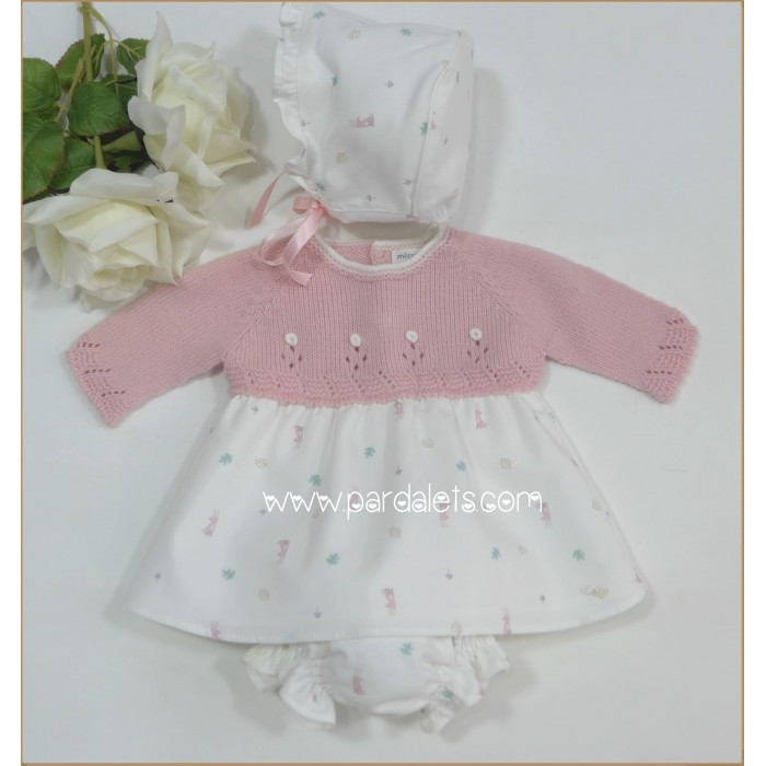 Mercedita napa blanco con feston Dbebe