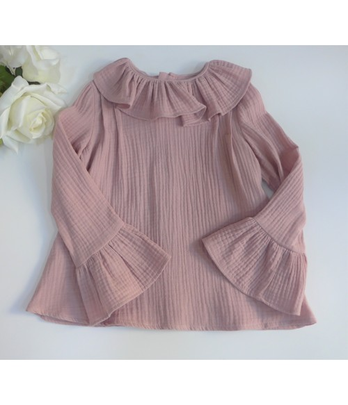Vestido raso a rayas horizontales y fajin rosa Lulu