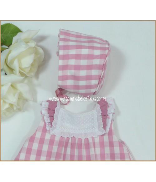 Vestido plumeti estampado flores rosas