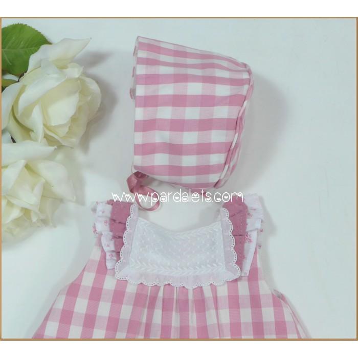 Vestido plumeti estampado flores rosas Clara Año
