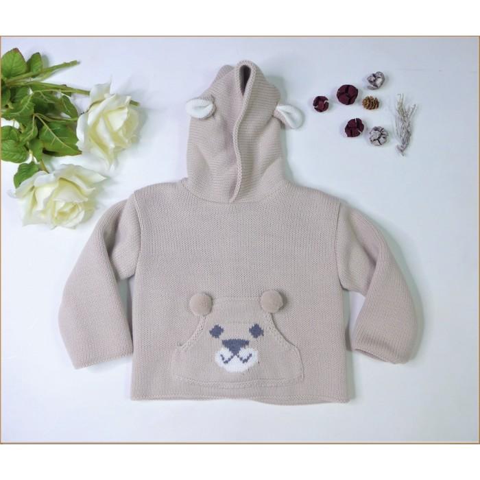 Pelele algodón gris con cuello bebe blanco