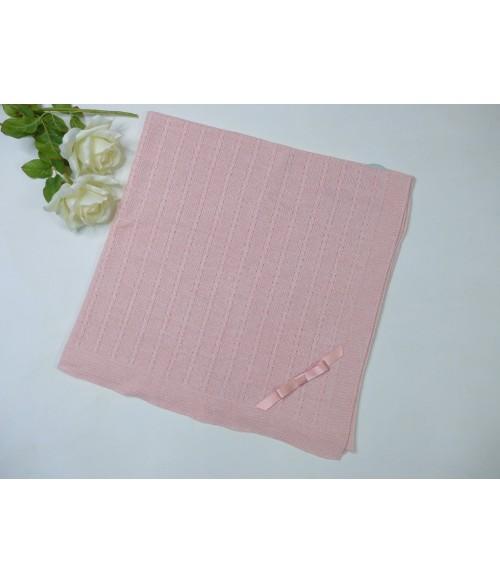 Vestido rosa empolvado y falda flores rosas con pompon