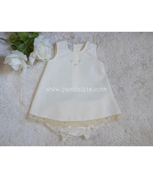 Blusa + Culote celeste topos blancos