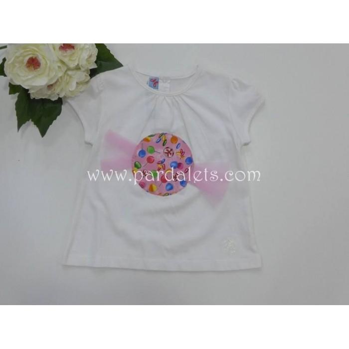Chaqueta punto corta rosa pompon Paloma de la O